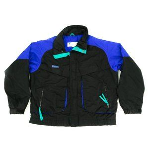 Columbia Jacket Men's Large Black Purple Full Zip